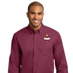 Burgundy Men's Long Sleeve Easy Care Shirt