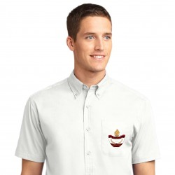 White Men's Short Sleeve Easy Care Shirt
