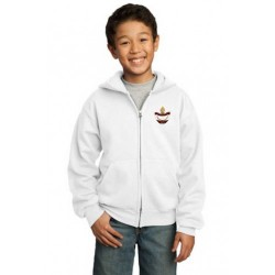 CLEARANCE - Full-Zip Youth Hooded Sweatshirt