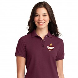 Burgundy Poly/Cotton Ladies Polo