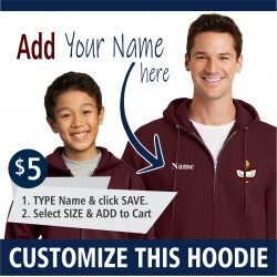 PERSONALIZATION - Youth and Adult Hoodie Zip