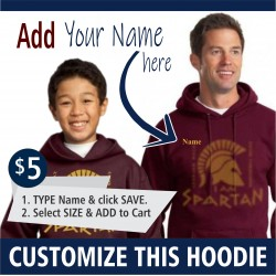 PERSONALIZATION - Youth and Adult Pullover Hooded Sweatshirt