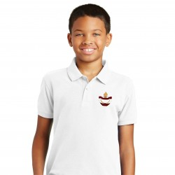 White - Poly Cotton Youth Polo
