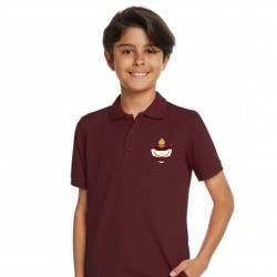 Burgundy Poly/Cotton Youth Polo