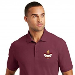 Burgundy Poly/Cotton Men's Polo