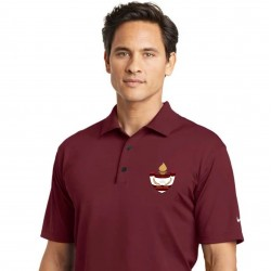 Burgundy Dri-FIT Men's Polo